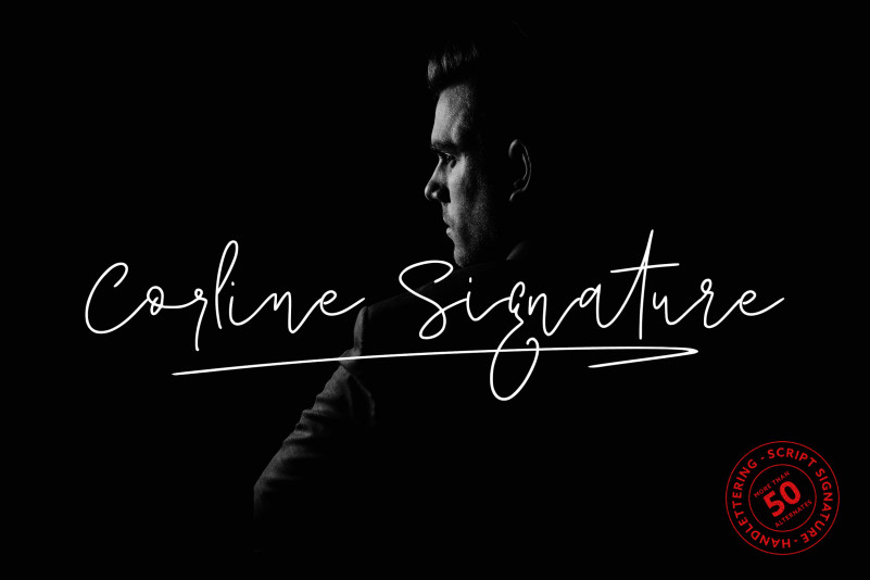 I want to introduce my new font Corline Signature Font. that makes for gorgeous logos, posters, wedding invitations, blog posts, social media, poster headline, magazines, book titles, business cards, advertisements, qoute and more! Corline Font includes over 50 ligatures to make everything look totally hand-done, and alternates for each letter. Includes: Corline Signature.ttf Corline Signature.otf Corline Signature swash.otf 50+ Ligatures