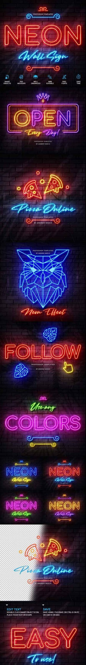 Neon Wall Sign Creator 26127266 Free Download