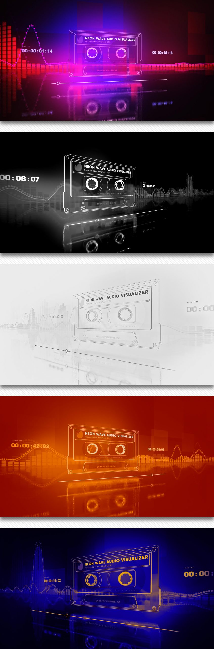 Neon Wave Audio Visualizer 23173515 Free Download