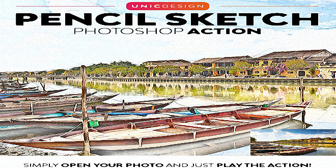 Pencil Sketch Photoshop Action 25798646 Free Download