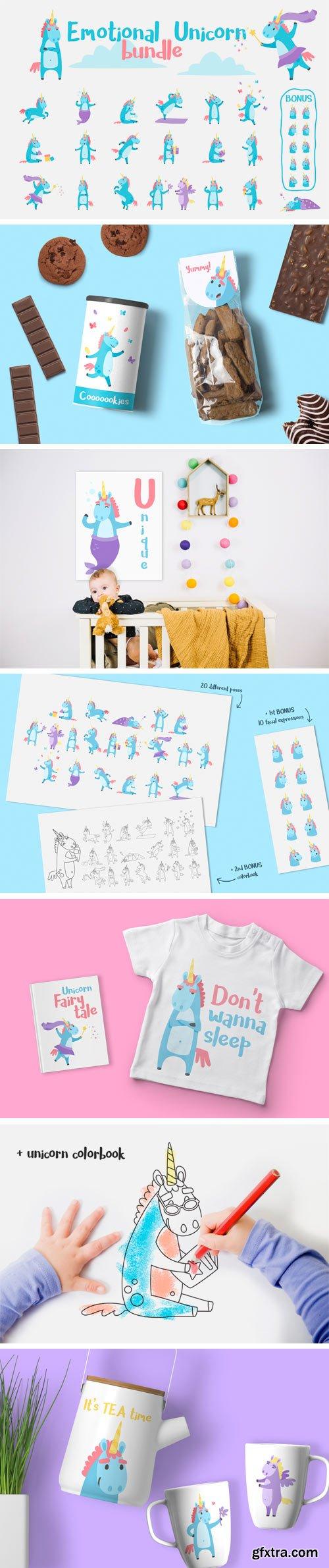 Designbundles-Emotional-Unicorn-Set-58057