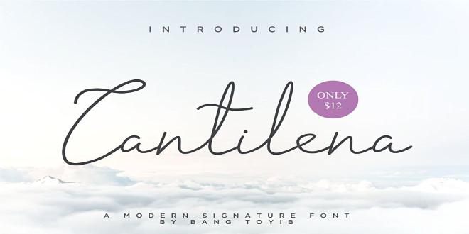 Cantilena Signature Font 2302803 Free Download
