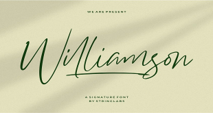 Williamson-Luxur- Signature-Font-4297132-Free-Download