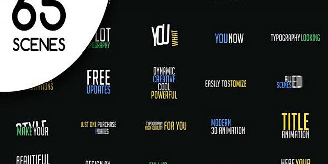 65 Kinetic Typography Scenes MOGRT 22262720 Free Download