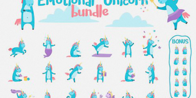 Designbundles-Emotional-Unicorn-Set-58057