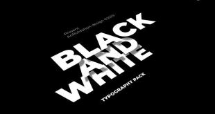 VideoHive Black And White – Titles And Typography 23821550 Free Download